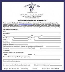 The Hounds Club Registration Form